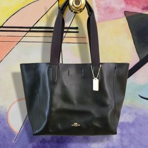 Coach Derby Tote Black Leather Tote